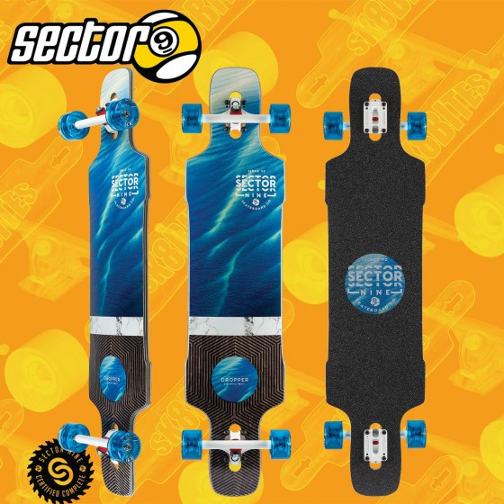 """Sector 9 Shallows Dropper 41"""" Complete Longboard Freeride Cruising Deck"""