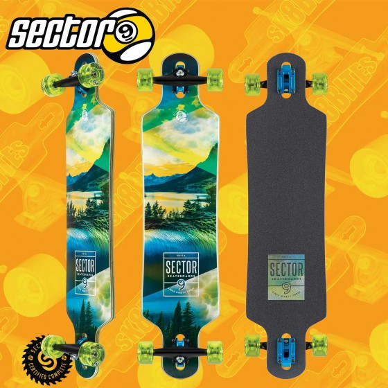 "Sector 9 Shallows Dropper 41"" Tavola Completa Longboard Freeride Cruising Carving"