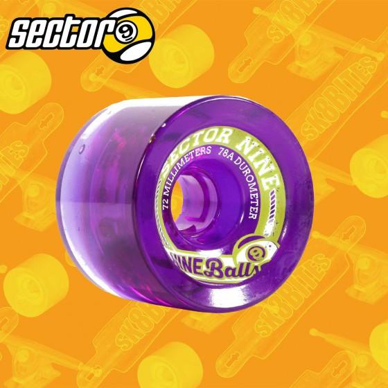 Sector 9 Nineballs Top Shelf  Purple 72mm Longboard Carving Cruising Wheels
