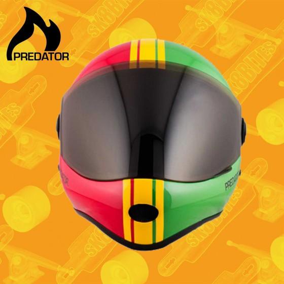 Predator DH-6 Black Grey Longboard Freeride Downhill Helmet