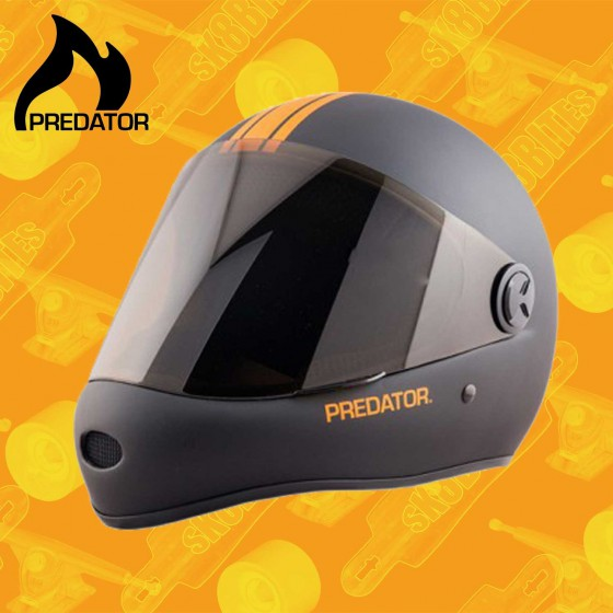 Predator DH-6 Black Grey Casco Longboiard Downhill Freeride