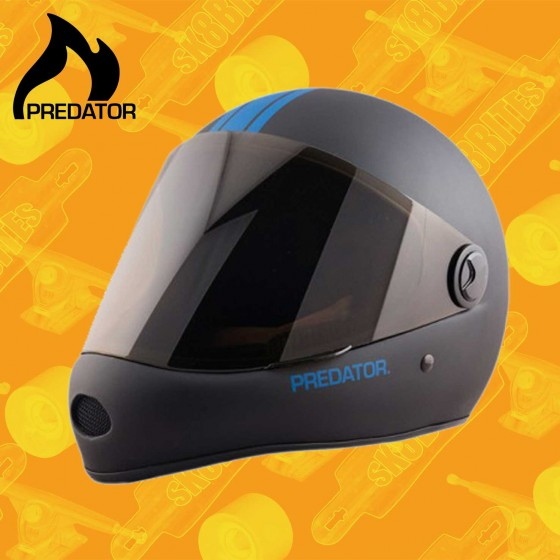 Predator DH-6 Black Orange Casco Longboard Downhill Freeride