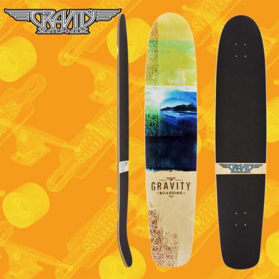 "Gravity 45"" Spoon Nose ""Thahitian Treat"" Tavola Longboard Completa Cruising  Carving"