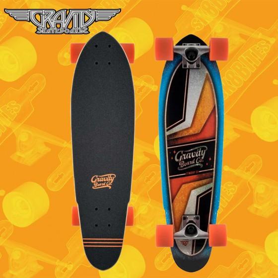 """Gravity 28"""" Bat Tail Tavola Longboard Skateboard Techslide Pool"""