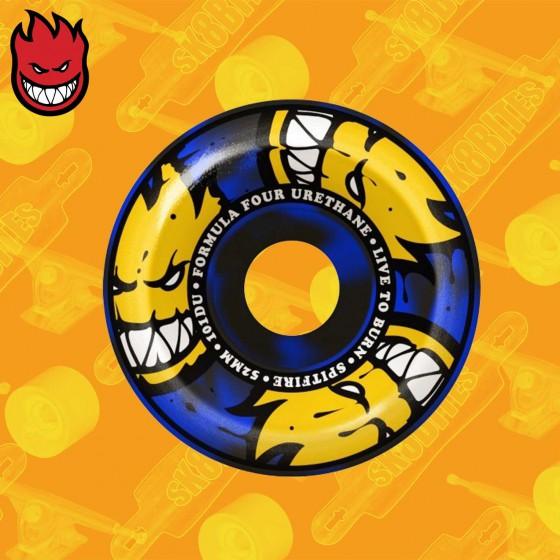 Spitfire Formula Four 53mm Afterburner Blue Black Swirl  101D Skateboard Street Wheels