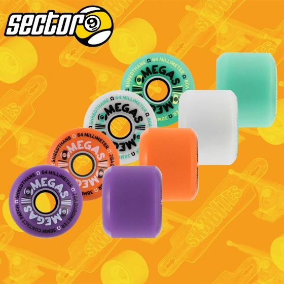 Sector 9 Omegas 64mm Longboard Slide Freeride Wheels