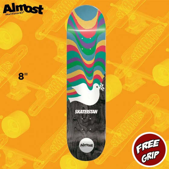 "Almost Skateistan Dove 8""  R7 Skateboard Street Deck"