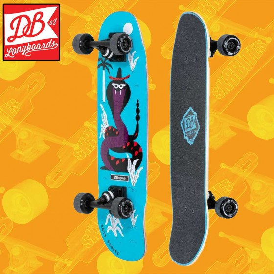"DB Longboards Mini Cruiser Good Vibes 28,75""Tavola Longboard Completa Cruising  Carving"