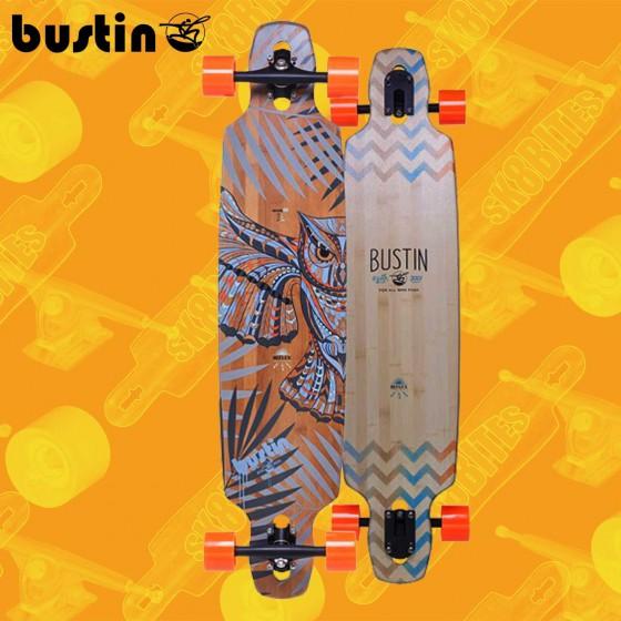 "Bustin Mission 40"" Bamboo Blue Tavola Longboard Completa Cruising  Freride"