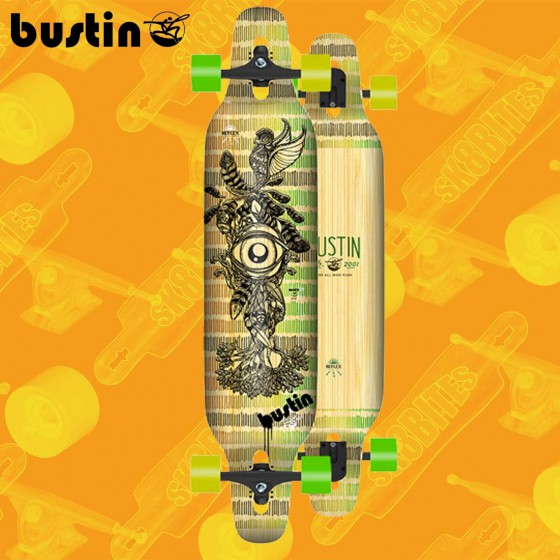 "Bustin Mission 40"" Bamboo Natural Longboard Freeride Cruising Deck"