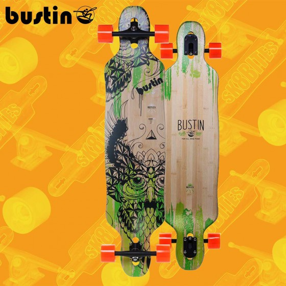 "Bustin Machete 39"" Bamboo Purple Longboard Freeride Cruising Deck"