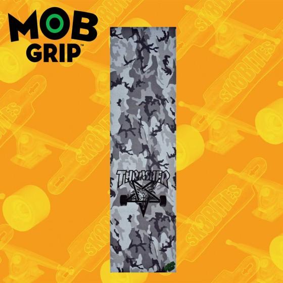 "MOB Thrasher Camo Gray 9""x33"" Graphic Skateboard Grip Sheet"