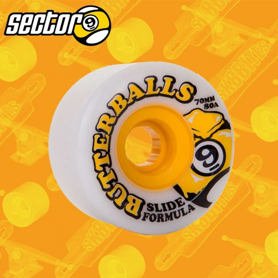 Sectro 9 Butterballs Longboard Freeride Slide Wheels