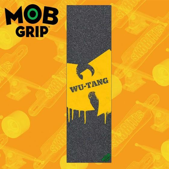 """MOB Thrasher Yellow And Orange Flame 9""""x33""""  Griptape Foglio Adesivo Skateboard Street"""
