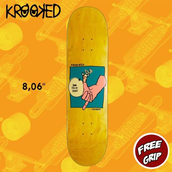"""Krooked Brad Cromer Tawker  8.06"""" Tavola Skateboard Street"""