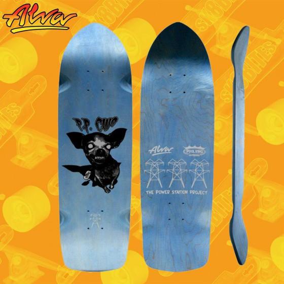 """Alva Leopard 32"""" Re-Issue Black 10"""" Skateboard Oldschool Street Deck"""