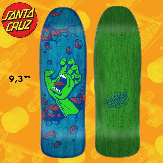 "Santa Cruz Preissue Wall Hand 9.35"" Skateboard Oldschool Street Deck"