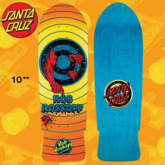"""Santa Cruz Roskopp Target 2 ReIssue 10"""" Skateboard Oldschool Street Deck"""