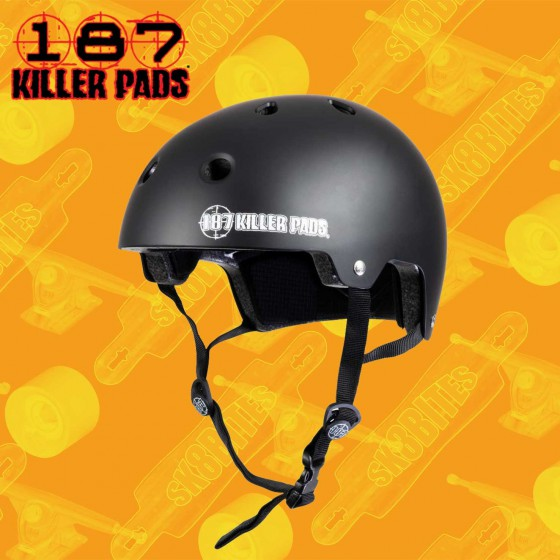 187 Killer Pads Helmet Glossy White Casco Skateboard Longboard Bike Freeride Slide