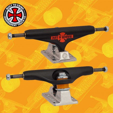 Independent Stage 11 Hollow Baker 4 Life Flat Black 144mm Attacchi Skateboard Street Trucks