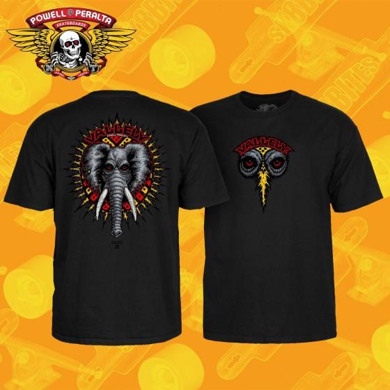 Powell Peralta Vallely Elephant Black T-shirt Unisex Skate