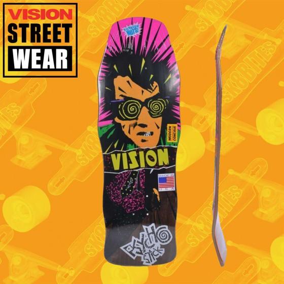 """Vision Psycho Stick Modern Concave Stain Veneer Orange 10"""" Skateboard Oldschool Street Deck"""