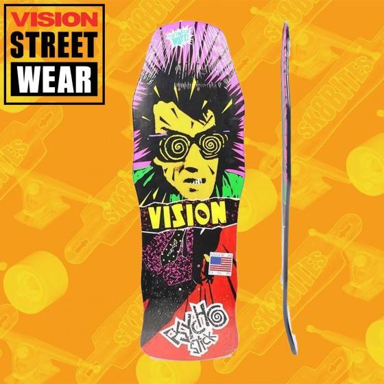 "Vision Psycho Stick Light Blue 10"" Skateboard Oldschool Street Deck"