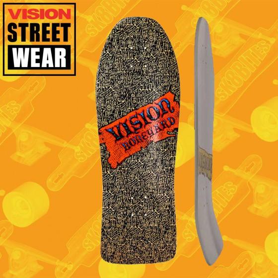 "Vision Boneyard Re-Issue White 10"" Skateboard Oldschool Street Deck"