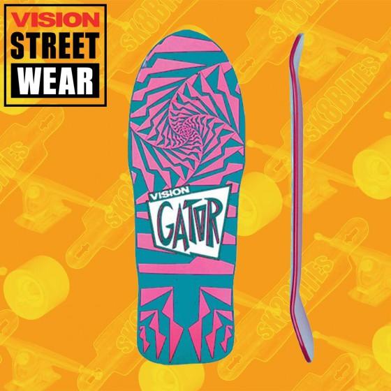 Vision Gator 2 Aqua/Pink Skateboard Oldschool Deck