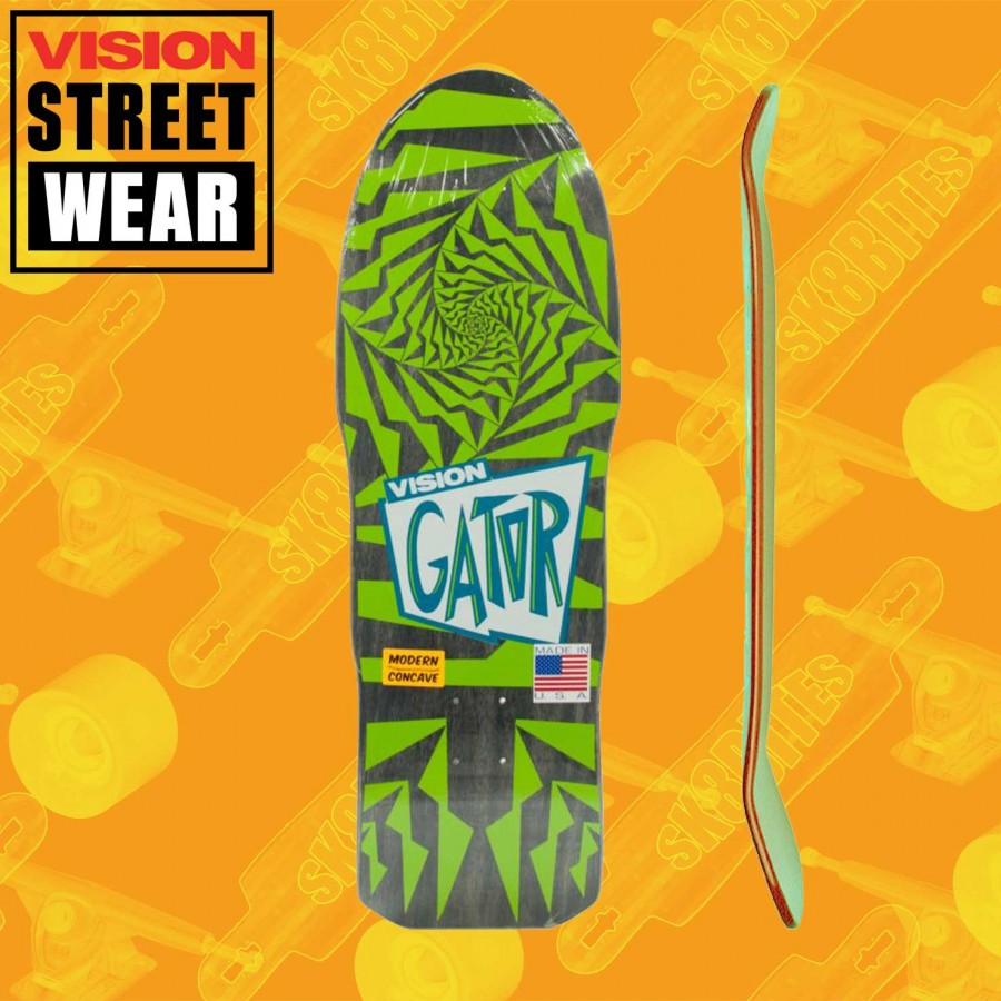 Vision Gator 2 Green/Grey Skateboard Oldschool Deck