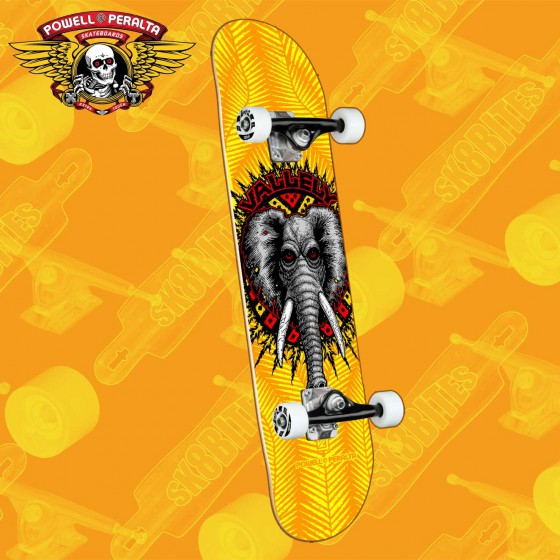 "Powell Peralta Vallely Elephant Yellow 8"" Complete Skateboars Street Deck"