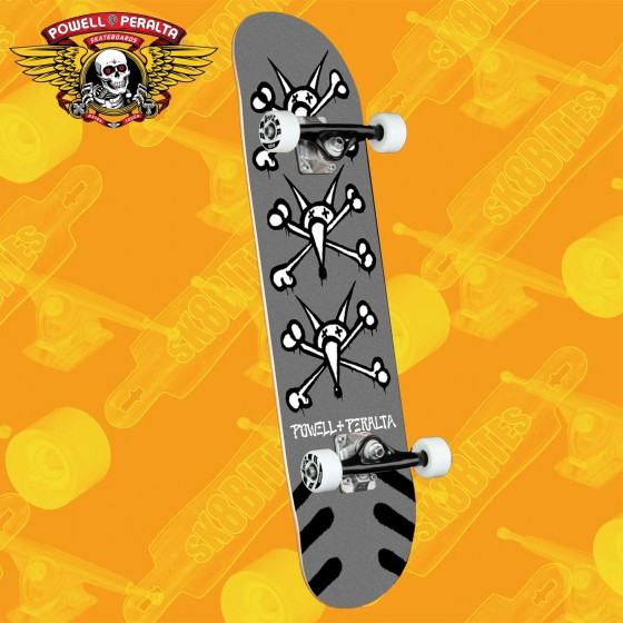 "Powell Peralta Mini Winged Ripper White 8"" Complete Skateboars Street Deck"