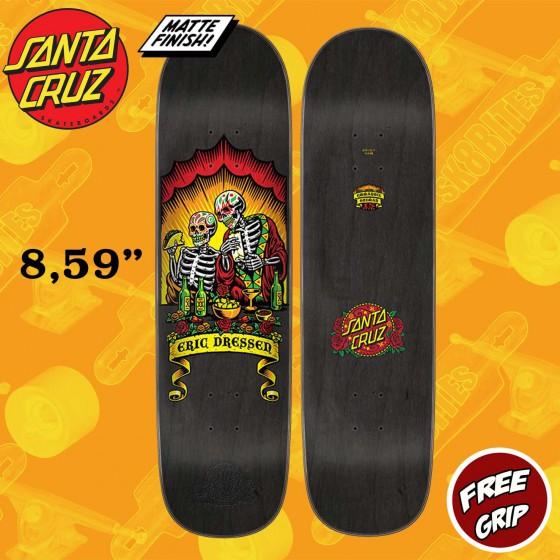 "Santa Cruz Pro Dressen Dine With Me 8.59""  Skateboard Street Deck"