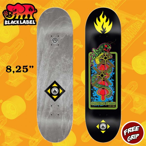 "Black Label Space Junk Team 8.75""  Skateboard Street Deck"