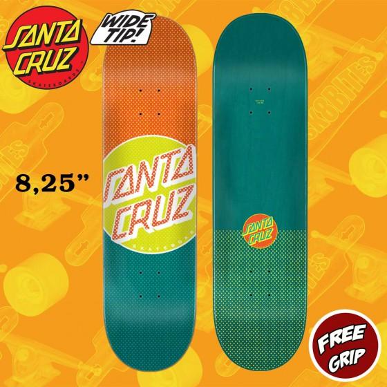 "Santa Cruz Process Dot Wide Tip 8.25""  Skateboard Street Deck"