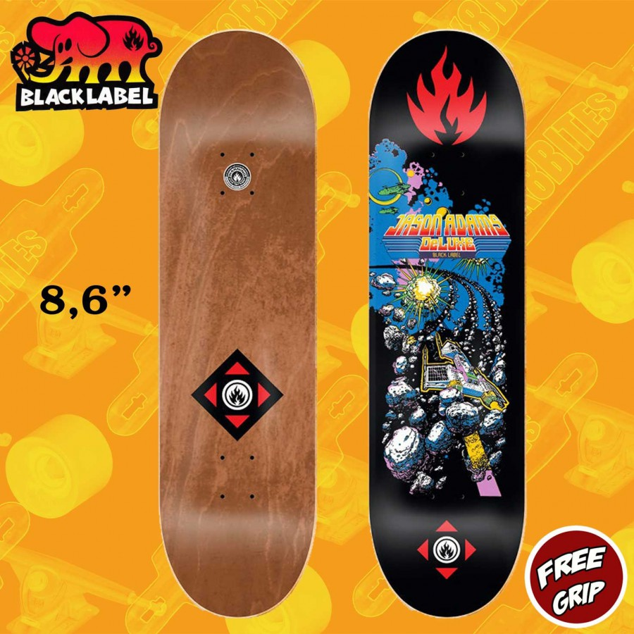 "Black Label Chris Troy Space Junk 8.5"" Skateboard Street Deck"