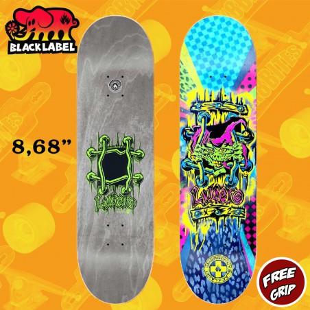"Black Label John Lucero Spray X-2 8.68"" Skateboard Street Deck"