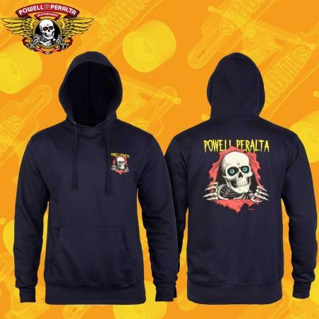 Powell Peralta Winged Ripper Hooded Sweatshirt Black Street Skate
