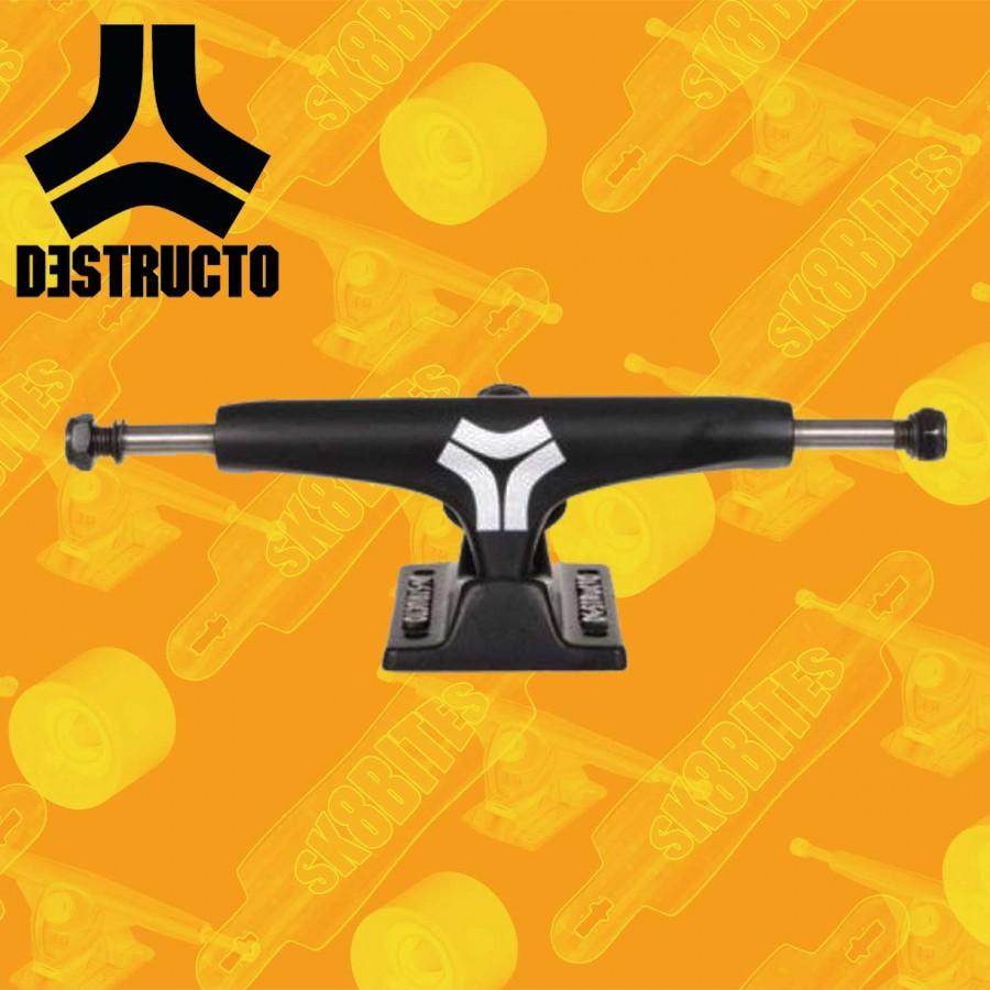 "Destructo D1 Black Mid 5"" Street Skateboard Trucks"
