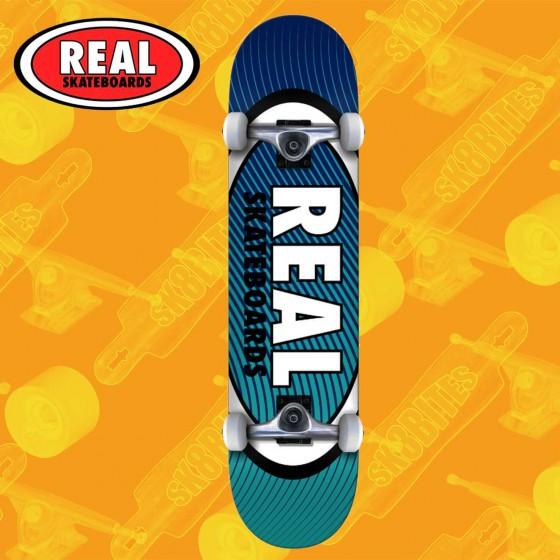 "Real Skateboards Oval Heatwave 8"" Tavola Skateboard Street Completa"