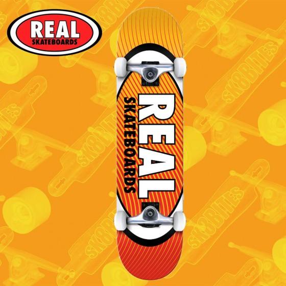 """Real Skateboards Oval Heatwave 7,75"""" Complete Skateboard Street Deck"""