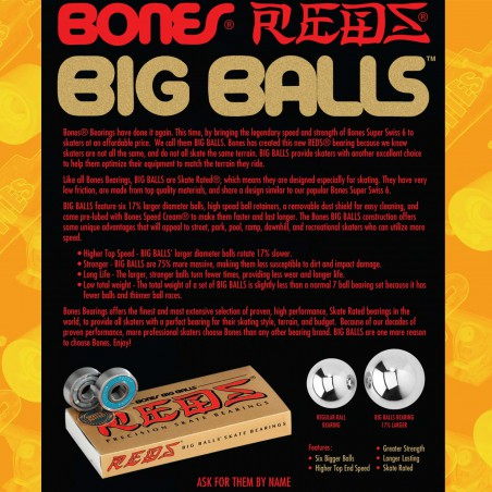 Bones Race Big Balls Longboard Freeride Bearings