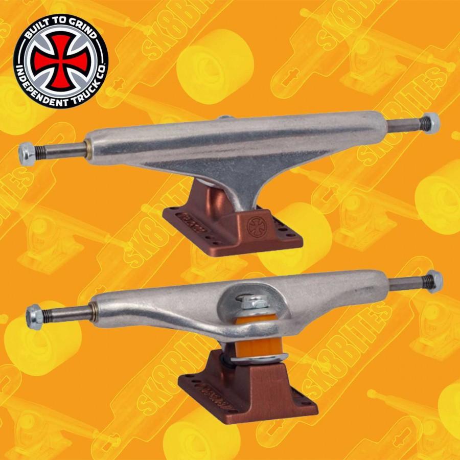 Independent Stage 11 Standard Milton Martinez Silver Black 144mm Skateboard Street Trucks