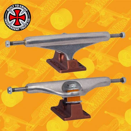 Independent Stage 11 Hollow Silver Anodized Dark Red 159 mm Skateboard Street Trucks
