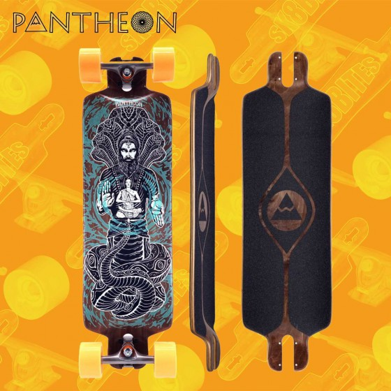 "Pantheon Pranayama Brown 31,375"" Tavola Longboard Pushing Freeride"