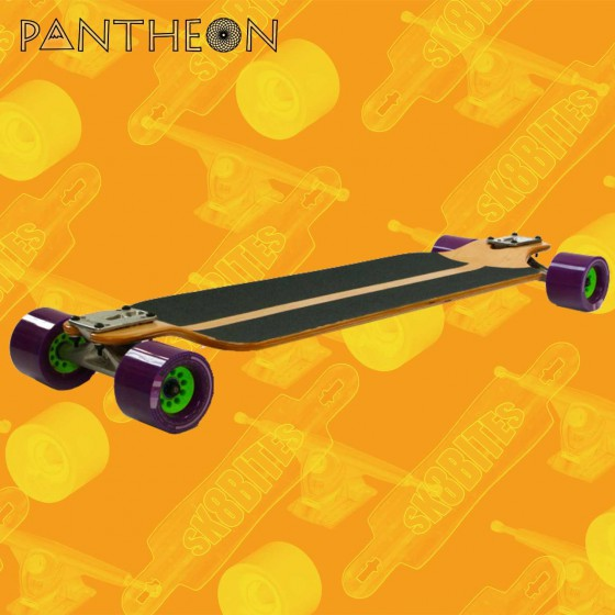 "Pantheon V2 Trip 7 Ply Purple 32,3"" Complete Tavola Longboard Pushing Freeride"