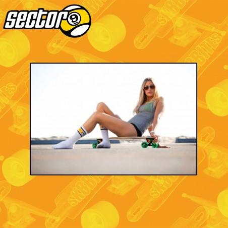 Sector 9 Vintage White Socks  Skateboard Street Unisex