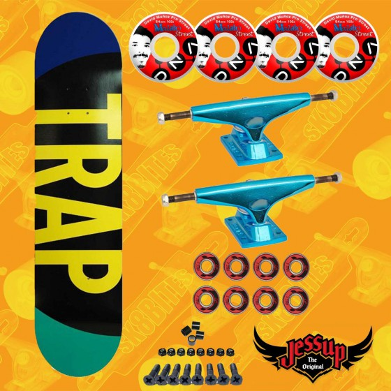"Trap PP 8,375"" Krux Trucks Set Up Tavola Skateboard Street"