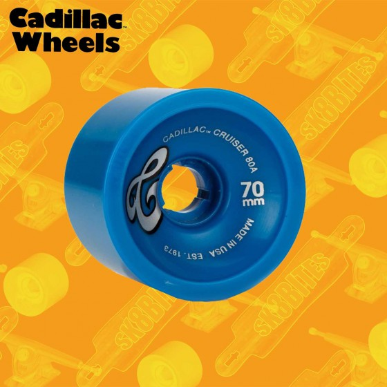 Cadillac Cruiser 70mm Blue Ruote Longboard Freeride Carving Cruising