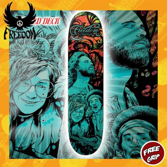"Freedom Skateboards ""Limited Edition"" Team Deck 8.25"" Skateboard Street Deck"